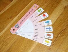 Tolle Idee zur Bestimmung von Satzgliedern - große Hilfe für die Schüler und Schülerinnen: Satzglieder-Fächer