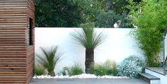 Jardin contemporain;acclimatation, Marseille - Architecte- mur blanc