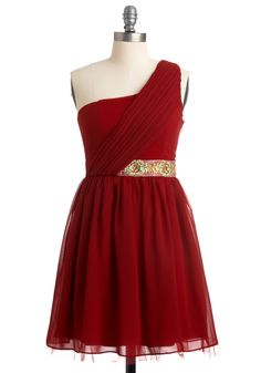 Love this red-wine dress -- great draping over the waistband