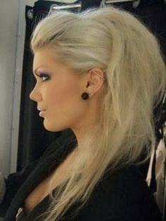 Penteados moicano feminino