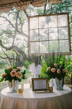 A Romantic Sparkler Set Up for a Garden Wedding | PhotoHouse Films | See More! http://heyweddinglady.com/ethereal-texas-garden-wedding-in-gray-pink-and-gold/