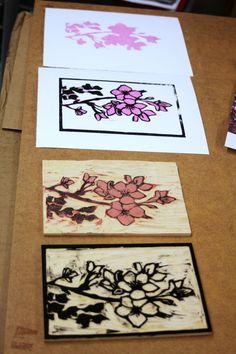 Artist Amanda Gordon Miller 2 colour printing process