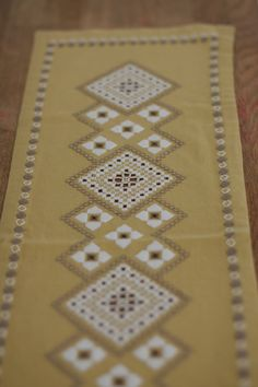 Unique Scandinavian Hardanger Embroidered by ScandiCushionVintage, $14.00