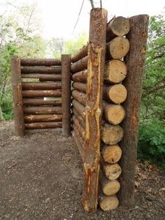 Cordwood fences: