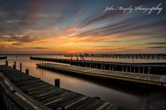 painting the sky with color as the sky asends the evening sky on Dock St in the outer banks of NC