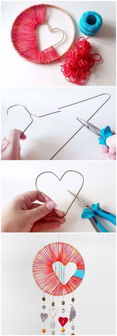 Easy to make heart mobile