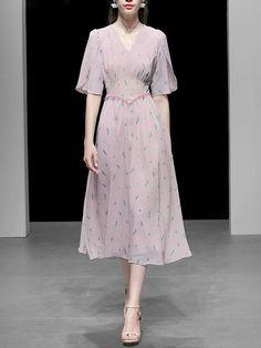 V Neck Lace Vintage Swing Dress – Jolly Vintage Swing Dress, Short Sleeve Dresses, V Neck, Lace, Vintage, Women, Fashion, Zapatos, Moda