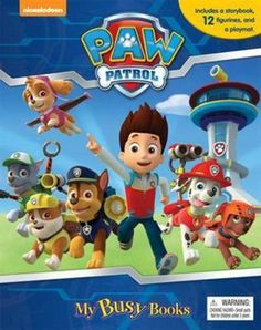 Paw Patrol My Busy Book Engaging and fun, the Nickelodeon Paw Patrol Busy Book features an amusing story and figurines Board book includes: 12 figurines and 1 playmat My Busy Books, My Books, Nickelodeon, Paw Patrol Birthday, Books To Buy, Book Activities, Childrens Books, Gifts For Kids, Busy Board