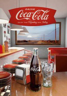 *COCA-COLA ~Soda Fountain Coca Cola Poster, Coca Cola Ad, Always Coca Cola, World Of Coca Cola, Coca Cola Bottles, Vintage Coca Cola, Vintage Ads, Vintage Diner, Poster Vintage