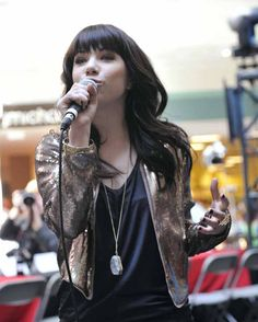 Carly Rae Jepsen at JUNO Fan Fare!  Photo Credit: CARAS/iPhoto Inc. Carly Rae Jepsen, Music Heals, Photo Credit, Awards, Leather Jacket, Events, Fan, Fashion, Studded Leather Jacket
