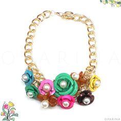Collar de Flores Multicolor. #oparina #multicolor