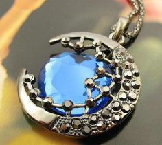 Crystal Moon Retro long Pendant Necklace. Tag Someone Who Would Love This! #moon