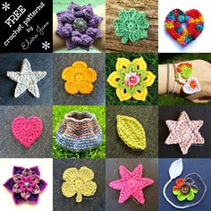 15 FREE CROCHET PATTERN by Elvira Jane.  All are available in UK and US crochet terms via Facebook (click on the photo to be taken to Elvira Jane's page). All designs, patterns, and images are copyright © Elvira Jane