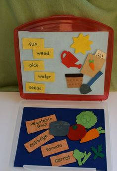 Vegetable Soup Felt Play Set With Felt Board/case