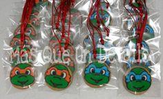 Tortugas Ninjas en medallas de galleta. #MQUD