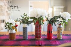 Winter Centerpiece with Thermos