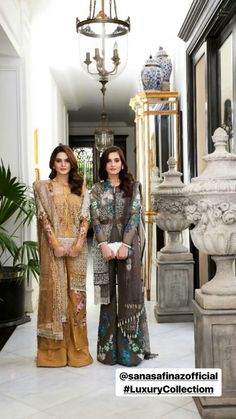 Aiman And Minal Indian Embroidery, Fashion Outfits, Womens Fashion, Fashion Clothes, Pakistani Actress, Indian Designer Wear, Indian Outfits, Party Wear, Designer Dresses