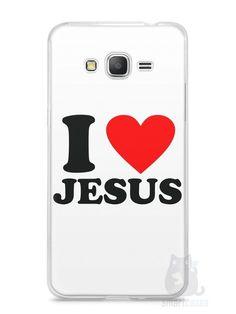 Capa Samsung Gran Prime I Love Jesus - SmartCases - Acessórios para celulares e tablets :)