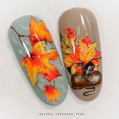 Best Autumn Nails Part 1 Nail Manicure, Diy Nails, Cute Nails, Pretty Nails, Olive Nails, Bright Pink Nails, November Nails, September, Fall Nail Art Designs