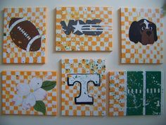 """Tennessee Football - with """"grass stains"""" (paint splatter)"""
