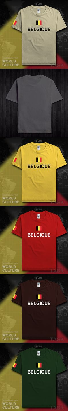 Belgium mens t shirt Belgian 2017 jersey nation team tees cotton t-shirt casual fitness sporting clothing flag country Belgique