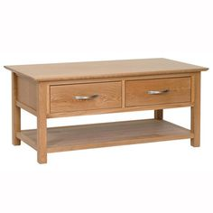 Devonshire New Oak Coffee Table with Drawers from Furniture Plus Online. Browse our range of top quality Oak & Pine furniture. 4 Drawer Coffee Table, Simple Coffee Table, Oak Coffee Table, Coffee Table With Storage, Coffee Coffee, Solid Oak Furniture, Pine Furniture, Large Furniture, Bedroom Furniture