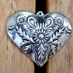 "Authentic Talavera Ceramic ""Puffy"" Hanging Heart Ornament Small"