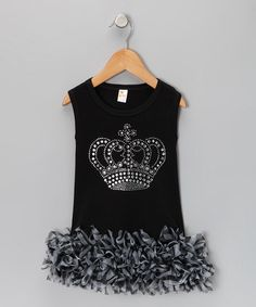 Take a look at this Black Zebra Tiara Dress - Infant, Toddler & Girls by The Princess and The Prince on #zulily today!