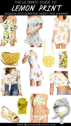 Just in case you aren't able to venture off to the Italian coast this Summer, check out my round up of all lemon print inspired pieces!
