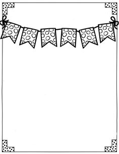 Doodle Borders, Page Borders, Borders For Paper, Borders And Frames, Classroom Clipart, School Clipart, Box Patterns, Doodle Patterns, School Binder Covers
