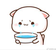 Cute Bunny Cartoon, Cute Kawaii Animals, Cute Couple Cartoon, Cute Cartoon Drawings, Kawaii Cat, Kawaii Drawings, Cute Love Pictures, Cute Love Gif, Chibi Cat