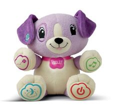 Violet Leapfrog Puppy Baby Learning Toy Plush Interactive Purple Toddlers Kids #LeapFrog