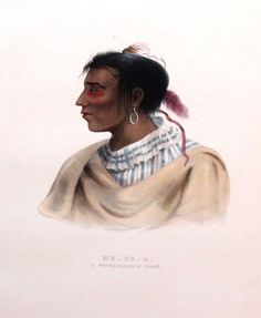 Pottawatomie Indian Chief - No name - No date - Artist: Unknown.