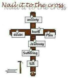 All the things that die, that are not of Him, nail them to the cross.