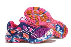 Asics Gel Noosa Tri 7 Women's Running Shoes Purple Navy Pink Cherry Pink