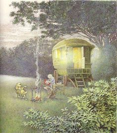The Wind in the Willows. Made me tolerate the moles in the yard.. and imagine a cute little home & life underground..... :-)