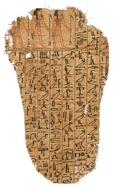 FRAGMENT D'UN LIVRE DES MORTS.  Égypte, Nouvel Empire, première moitié de la XVIIIe dynastie.