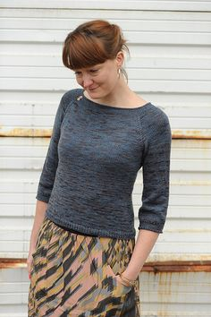 Breakwater is a top down raglan worked in one piece in the round with waist shaping and simple slip stitch trims at the neck and cuffs. It is an easy to wear pullover with simple details. Luxe Merino Fine by Kitchen Sink Dyeworks is a fantastic fingering weight sock yarn with a wonderfully soft hand and is available in an incredible selection of colors.