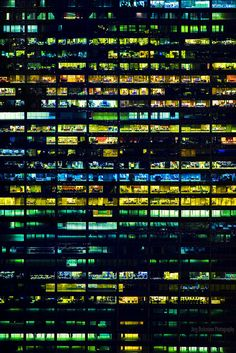 Office Pattern by Jörg Dickmann Urban Photography, Night Photography, Landscape Photography, 3d Texture, Urban Life, Monuments, Brutalist, Urban Landscape, City Lights