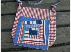 sac enfant en vichy avec rabat patchwork