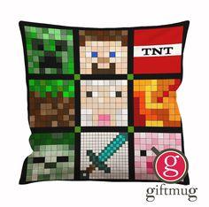 Minecraft Quilt Face Cushion Case / Pillow Case #minecraft #game #minecraftquiltface
