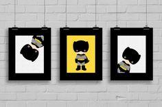 Superhero Batman Prints Superhero Pop Art by SimplyLoveCreations