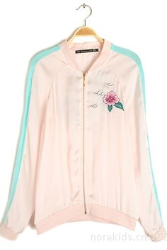 Sweet Pink Sporty Top with Embroidery