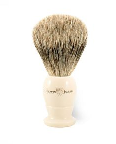 Buy Edwin Jagger Imitation Ivory Shaving Brush (Best Badger) from The English Shaving Company. Extensive range of Best Badger Shaving Brushes from premium brands. Badger Shaving Brush, Shaving Oil, Shaving Cream, Edwin Jagger, Strong Hair, Horse Hair, Men's Grooming, Hair Brush