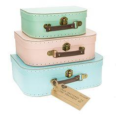 Set of 3 Pastel Coloured Blue Green Pink Retro Suitcases Storage Boxes Sass & Belle http://www.amazon.com/dp/B00PYSWQB4/ref=cm_sw_r_pi_dp_WZZOvb01C3YD3