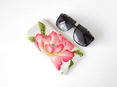 Large Eyeglass Case, Glasses Case, Sunglasses Case in Sanderson Naomi - Made in the UK, by LeanneWoodsDesigns, £6.50