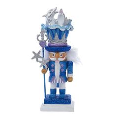 12 Under The Sea Nutcracker with Dolphin Hat Christmas Decoration ** This is an Amazon Affiliate link. Click on the image for additional details.