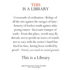 this is a library