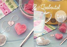 Selbstgemachte Teebeutel und Zuckerwürfel sind eine süße Idee für die eigenen Freundinnen.