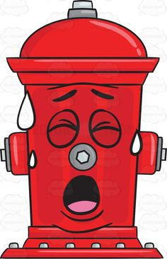 Bored And Spent Fire Hydrant Emoji Black Eyebrows, Emoji Design, Fire Prevention, Tired Eyes, Vector Clipart, Vector Illustrations, Cartoon Images, Pictures To Draw